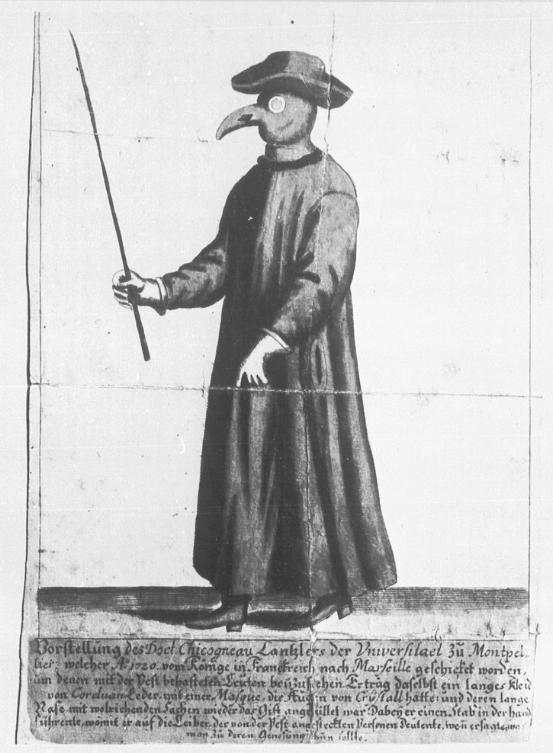 Doctor Francois Chicoyneau (1672-1752) tijdens de pestepidemie van Marseille 1720
