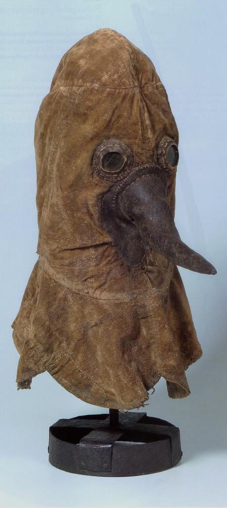 Authentiek pestartsmasker (c. 1750). Duitsland. Collectie Deutsches Historisches Museum, Berlijn (coll.nr AK 2006/51)